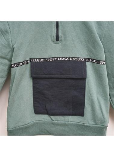 Panço Erkek Çocuk Kapşonlu Sweatshirt 2021BK08008 Yeşil
